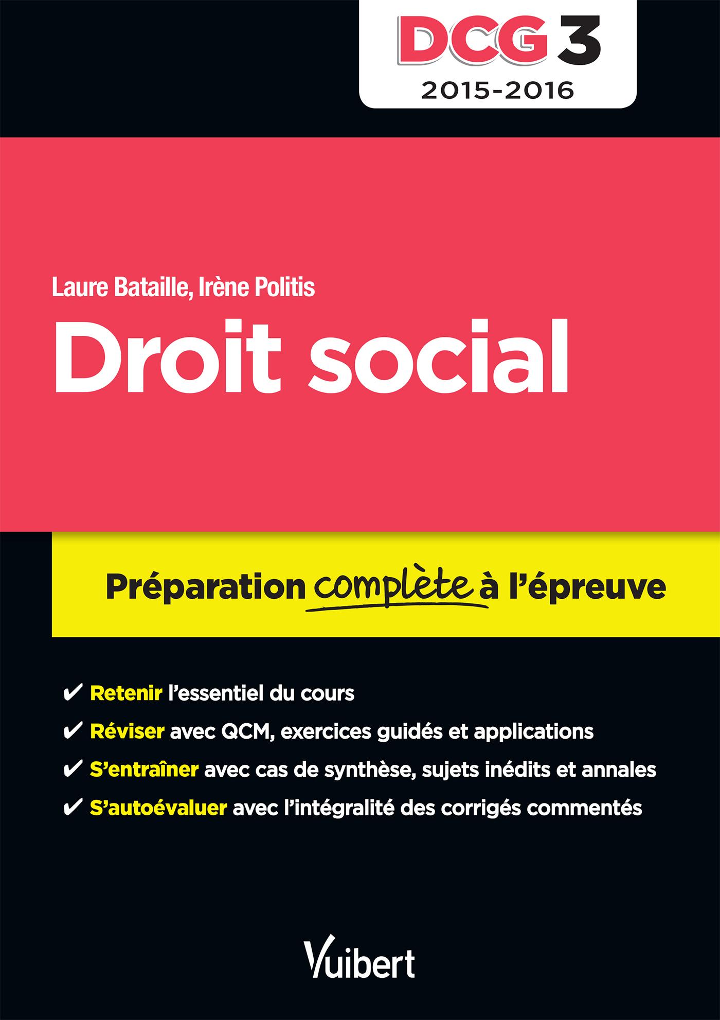 DCG 3 DROIT SOCIAL 2015 2016