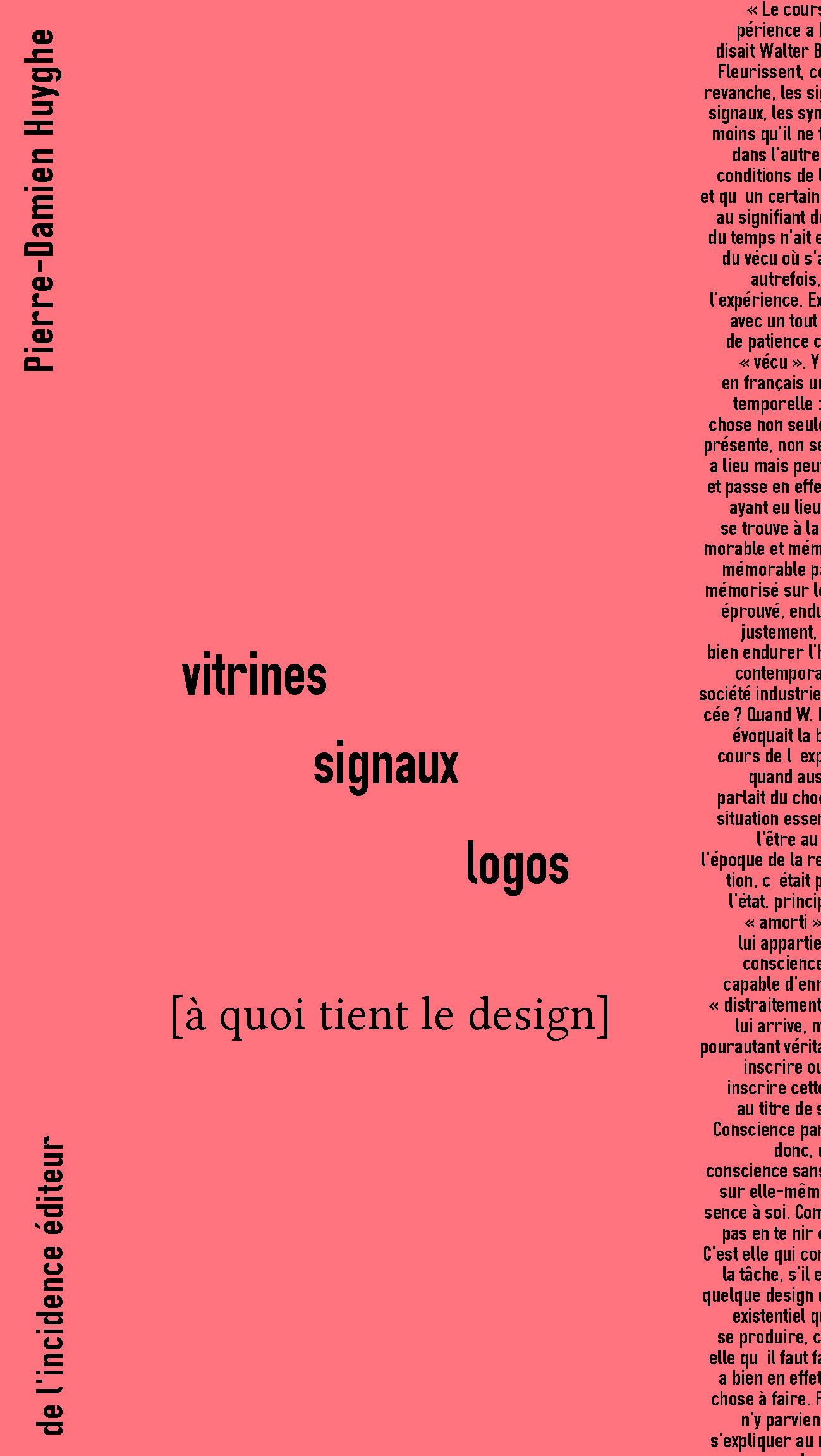 VITRINES SIGNAUX LOGOS - A QUOI TIENT LE DESIGN