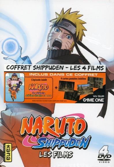 NARUTO SHIPPUDEN - LES FILMS - COFFRET 4 DVD