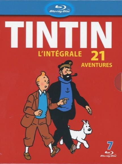 TINTIN L'INTEGRALE 21 AVENTURES - 7 BLU-RAY DISC