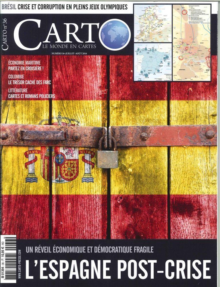 CARTO N 36 L'ESPAGNE POST-CRISE JUILLET/AOUT 2016