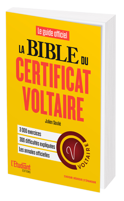LA BIBLE DU CERTIFICAT VOLTAIRE