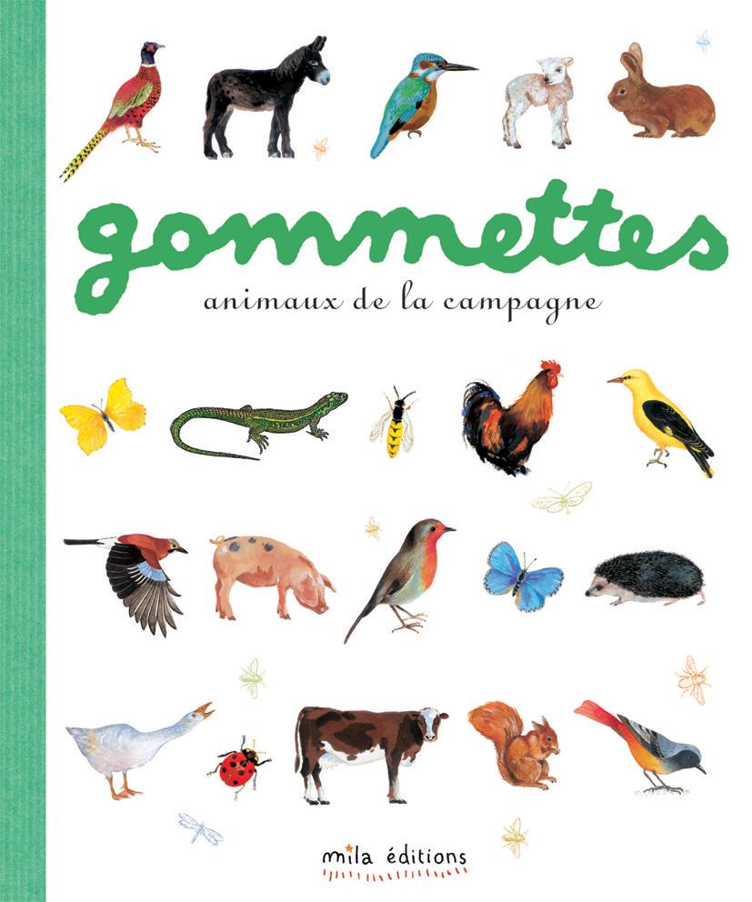 GOMMETTES ANIMAUX DE LA CAMPAGNE NOUVELLE EDITION