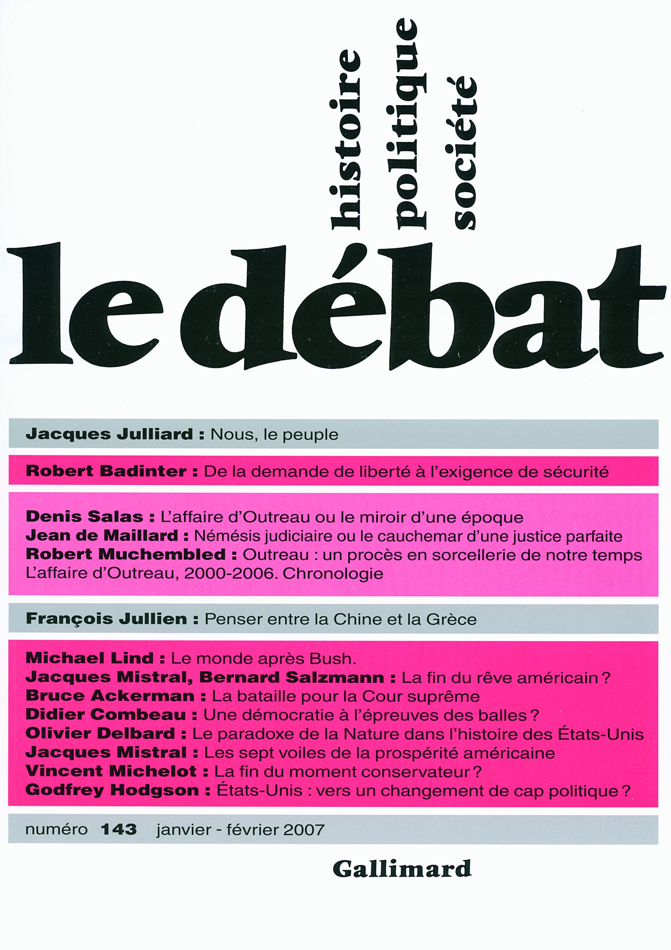 LE DEBAT 143 (JANVIER 2007)