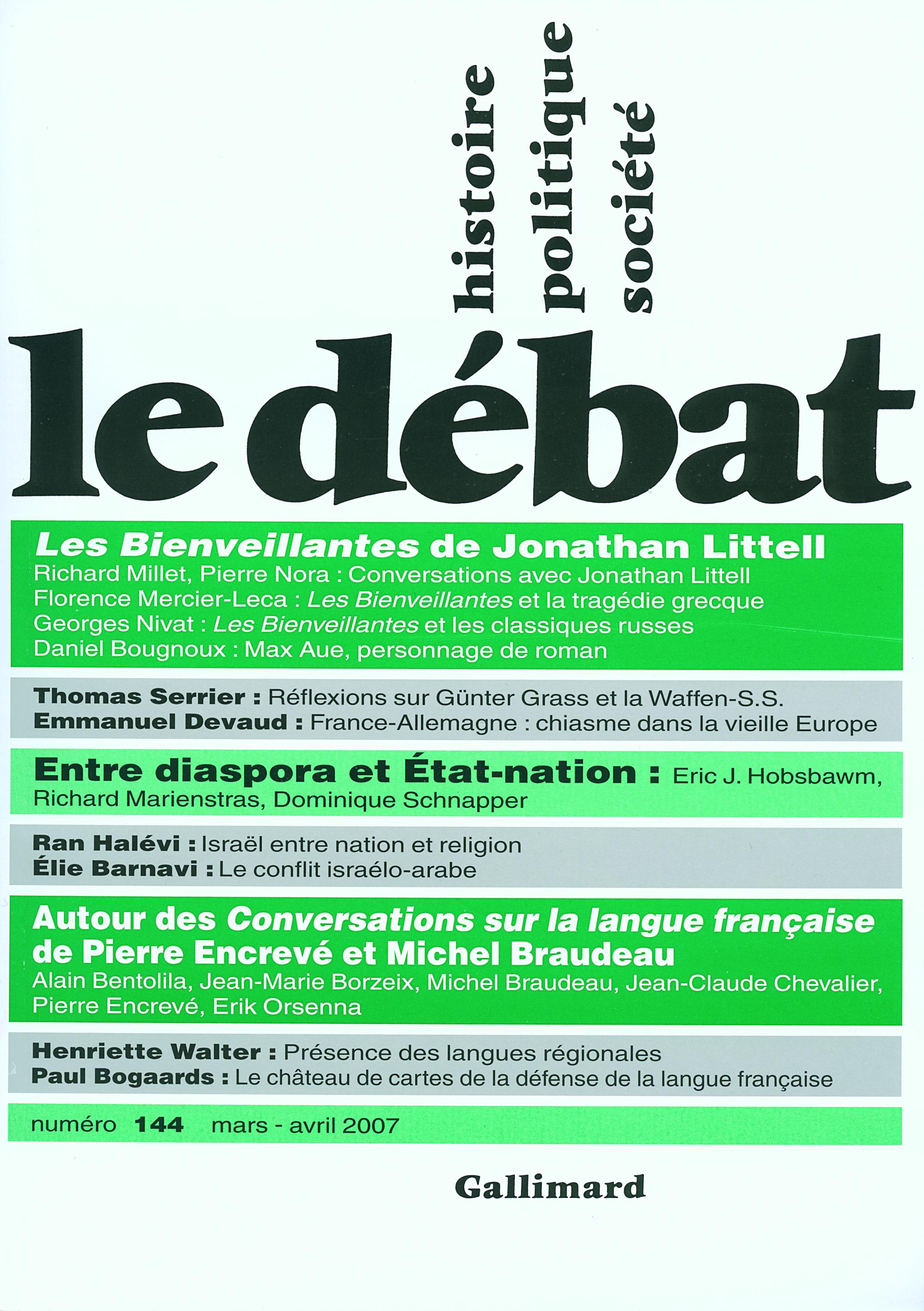 LE DEBAT 144 (AVRIL 2007)