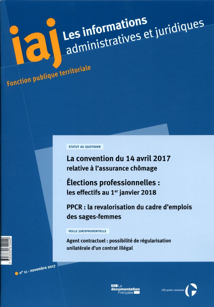 IAJ N.11-2017 - ELECTIONS PROFESSIONNELLES:LES EFFECTIFS AU 1ER JANVIER 2018