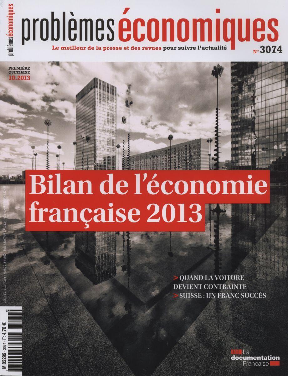 BILAN DE L'ECONOMIE FRANCAISE 2013 - PE N 3074