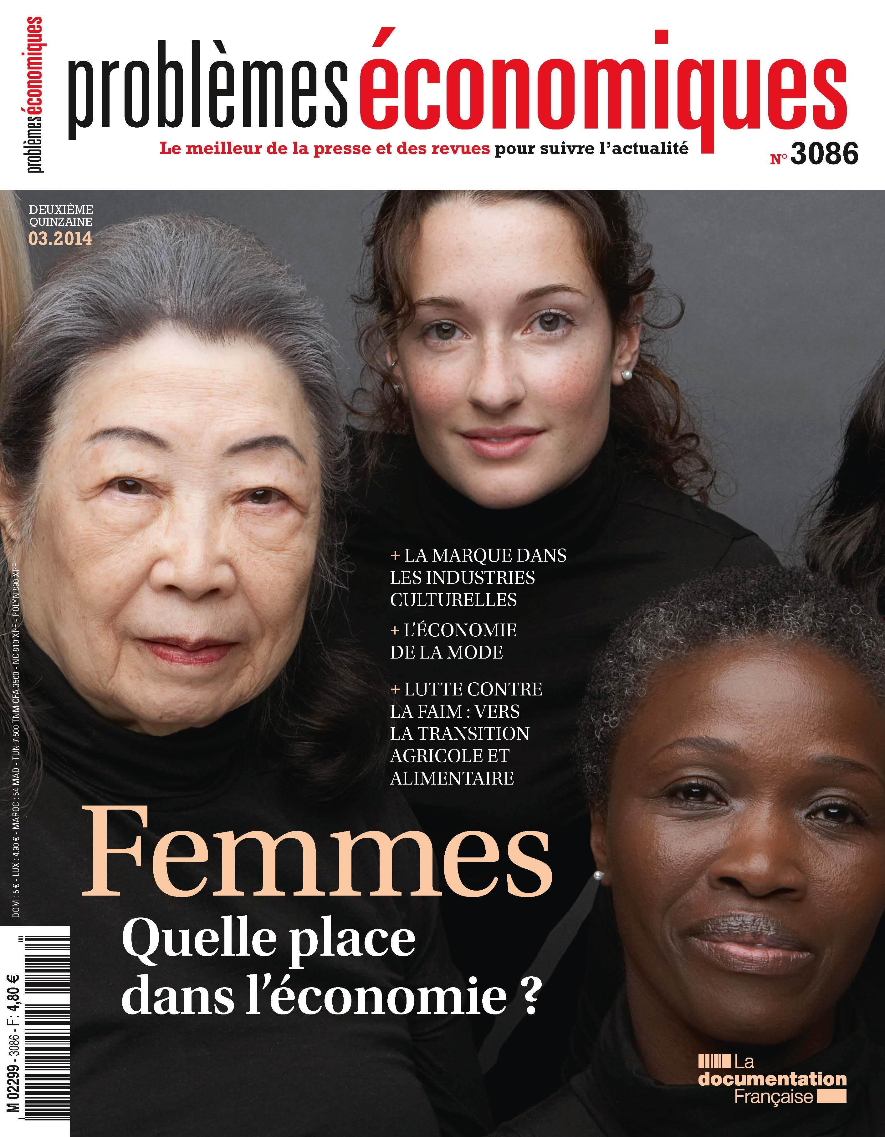 FEMMES QUELLE PLACE DANS L'ECONOMIE ?-PE 3086