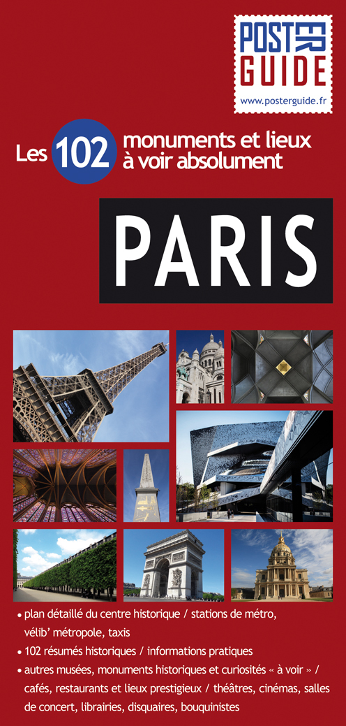 PARIS POSTER GUIDE PLASTIFIE