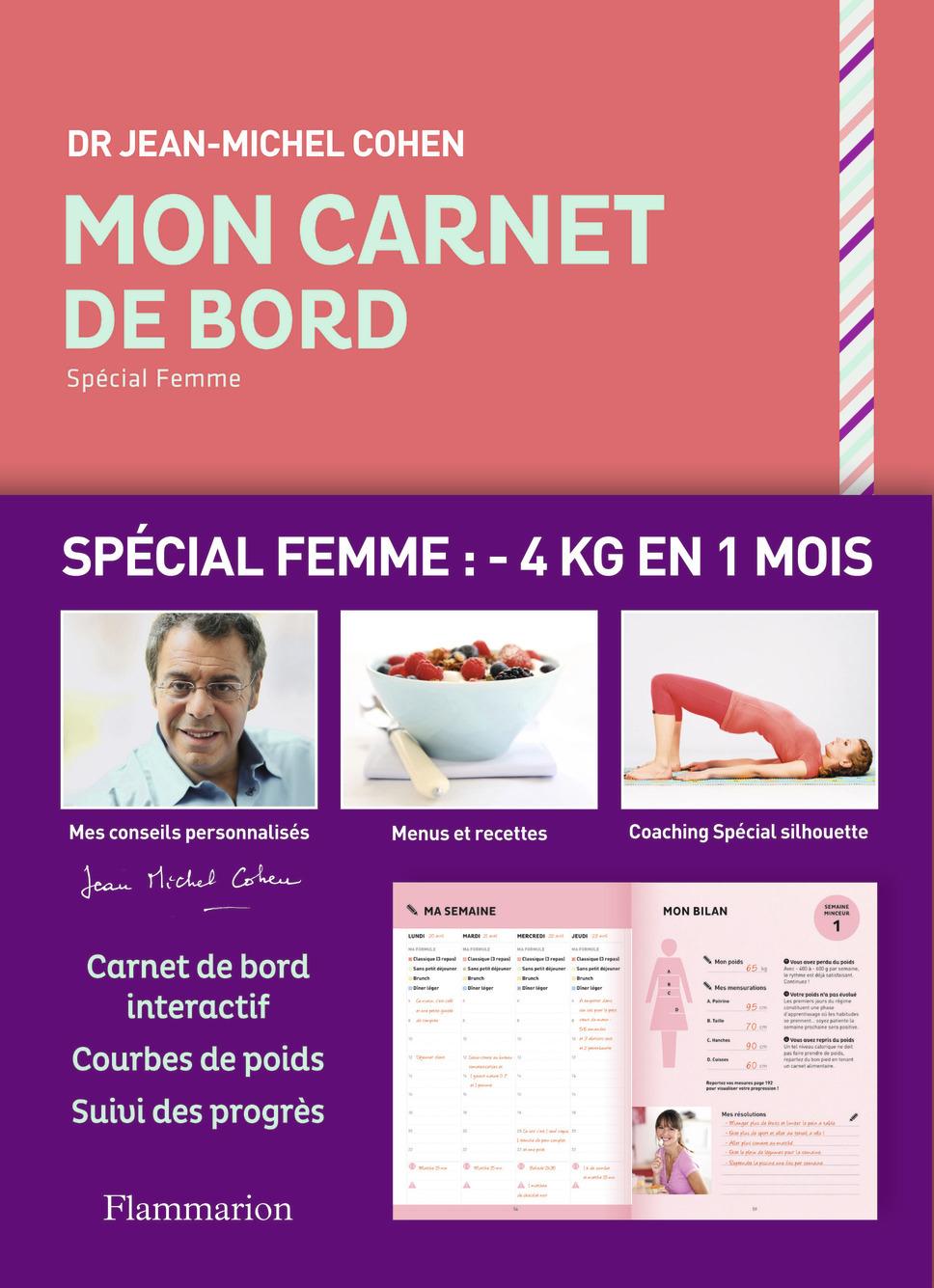 BEAUTE,  BIEN-ETRE ET DIETETIQUE - MON CARNET DE BORD SPECIAL FEMME