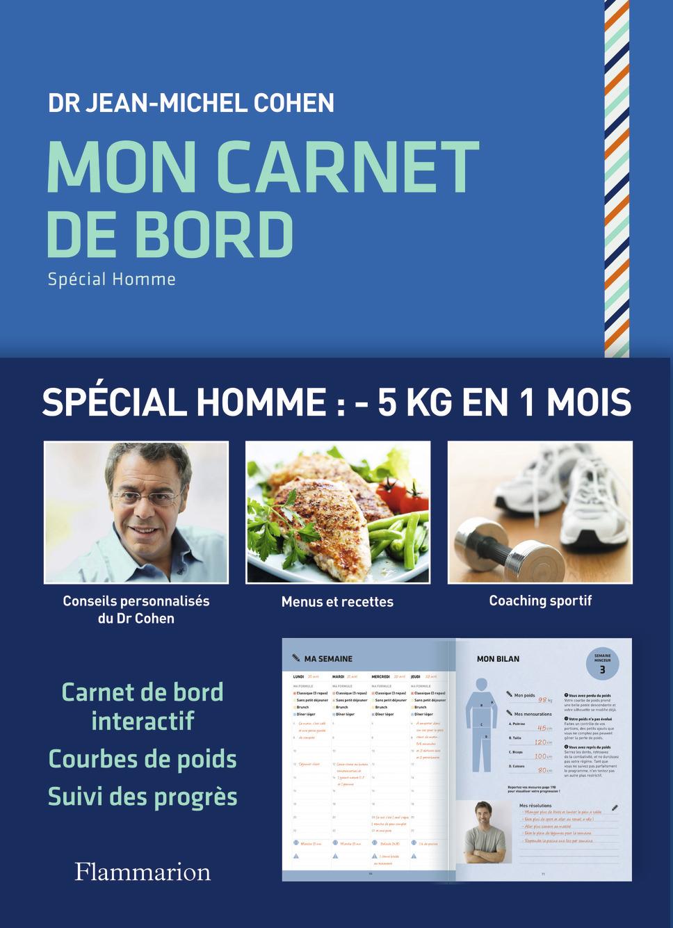 BEAUTE,  BIEN-ETRE ET DIETETIQUE - MON CARNET DE BORD SPECIAL HOMME