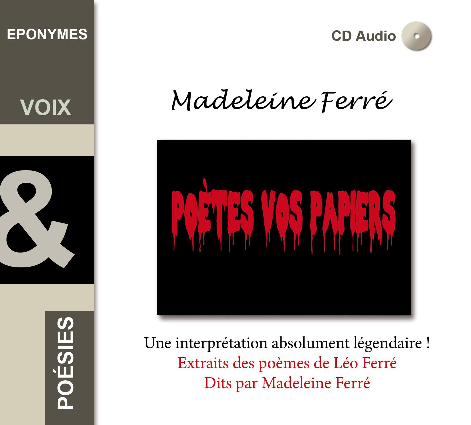 MADELEINE FERRE POETES VOS PAPIERS