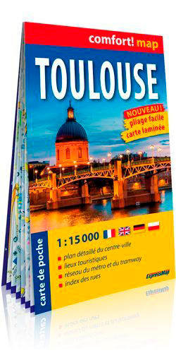 TOULOUSE 1/15.000 (CARTE POCHE FORMAT LAMINEE)