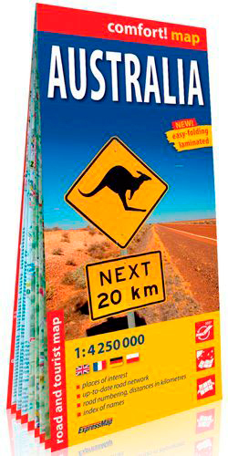 AUSTRALIE 1/4M250 (ANG) (CARTE GRAND FORMAT LAMINE