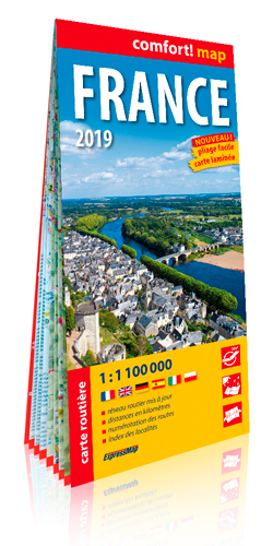 FRANCE 2019 1/1M1 (COMFORT! MAP, CARTE LAMINEE)