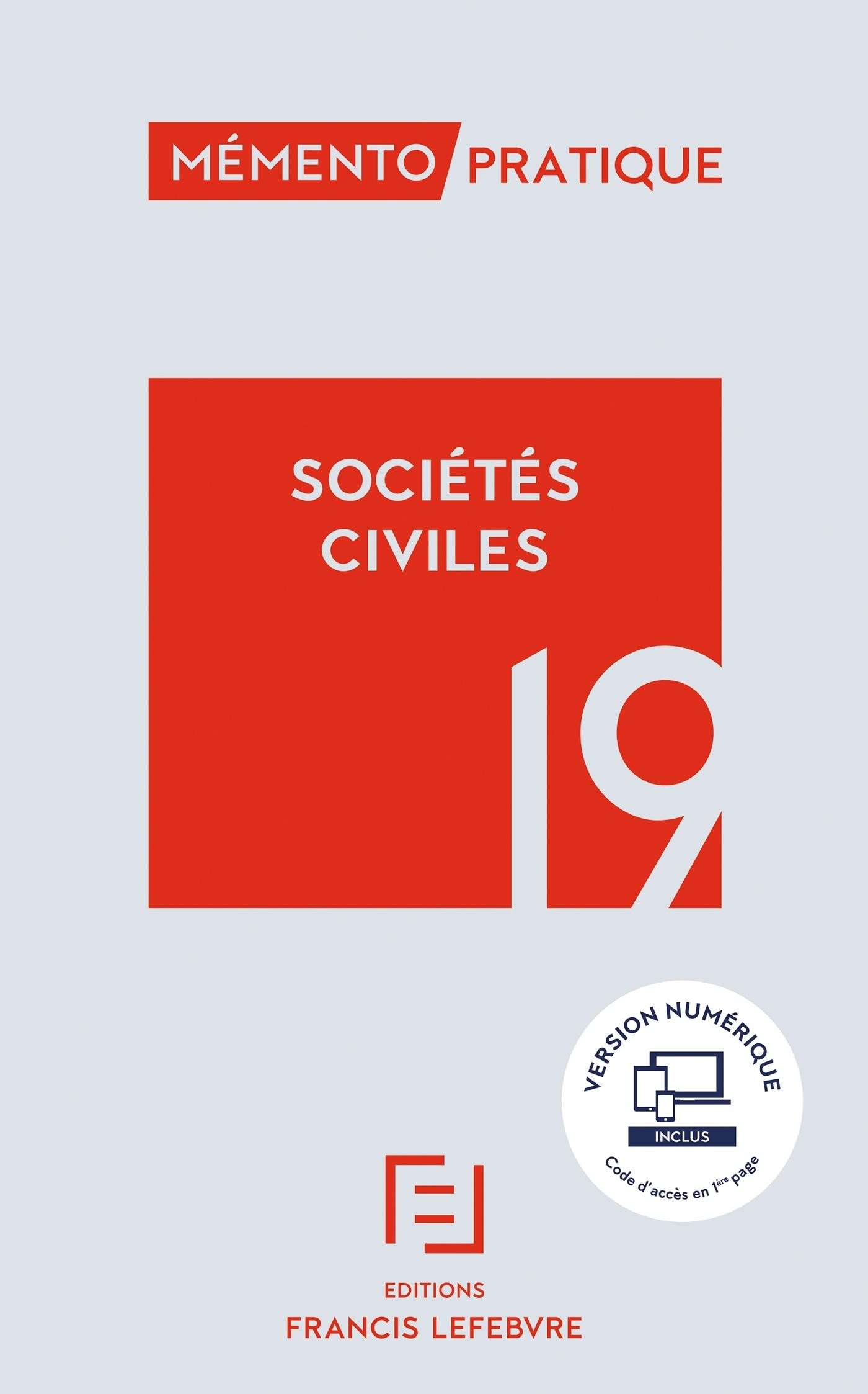 MEMENTO SOCIETES CIVILES 2019