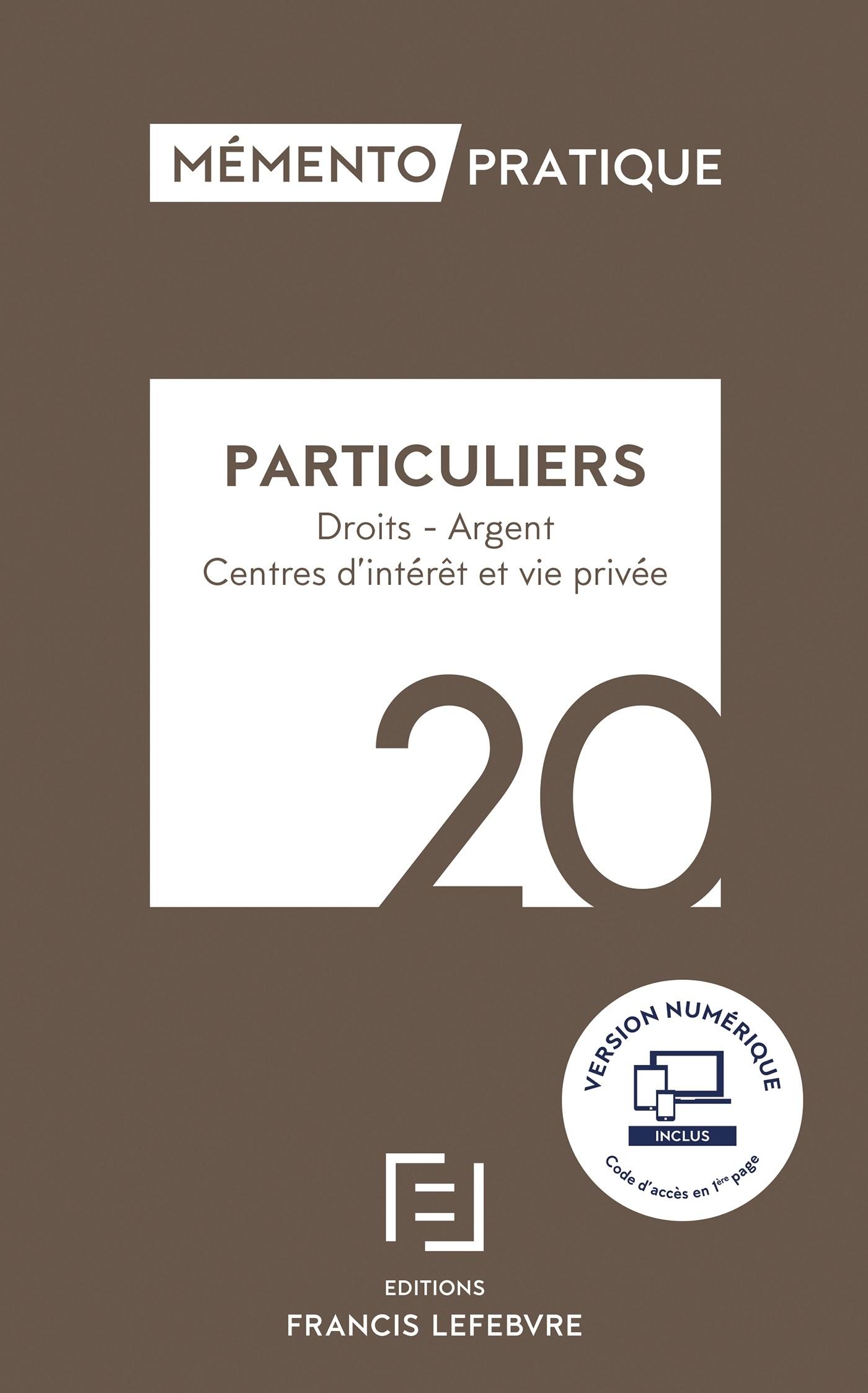 MEMENTO PARTICULIERS 2020