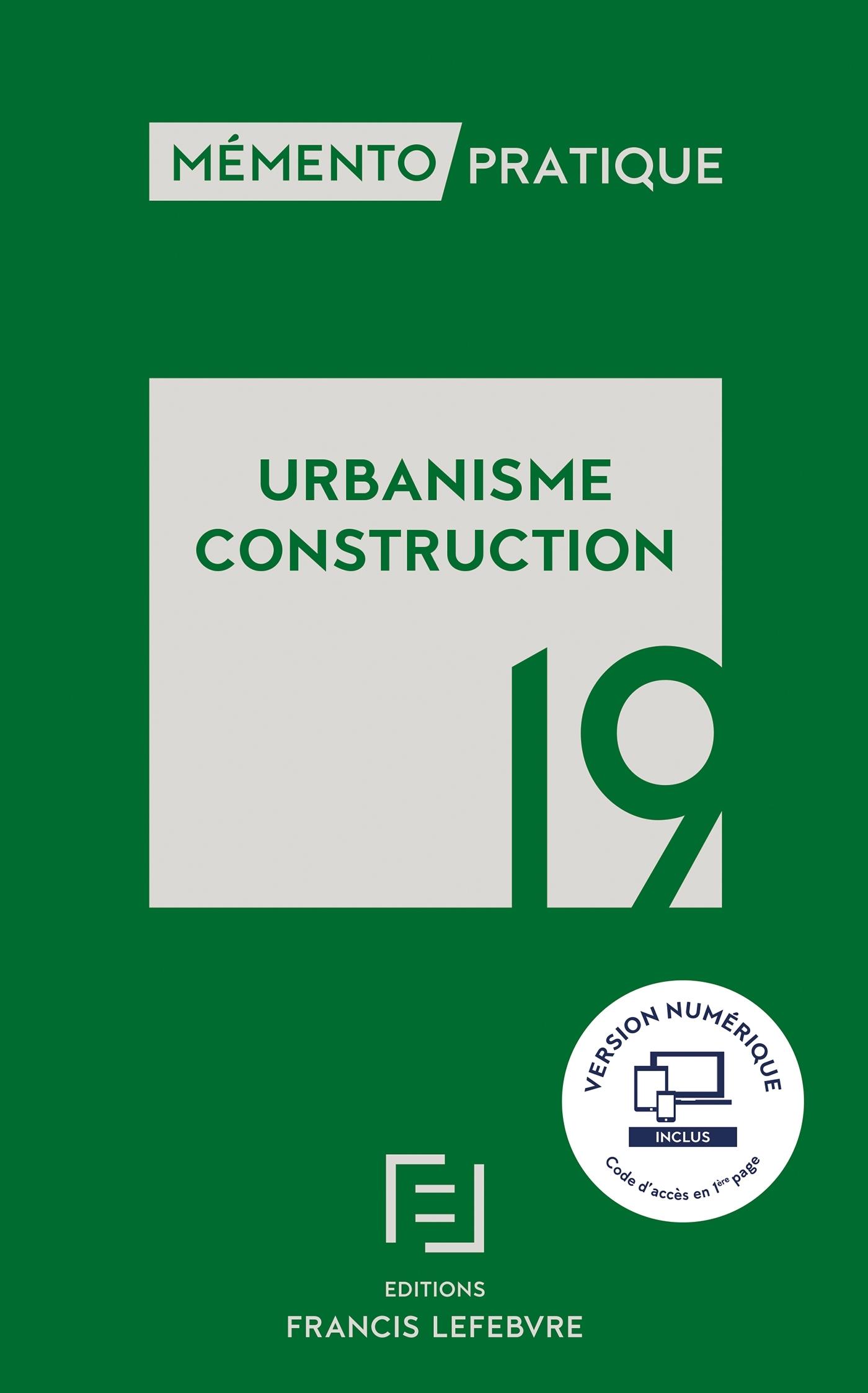 MEMENTO URBANISME CONSTRUCTION 2019