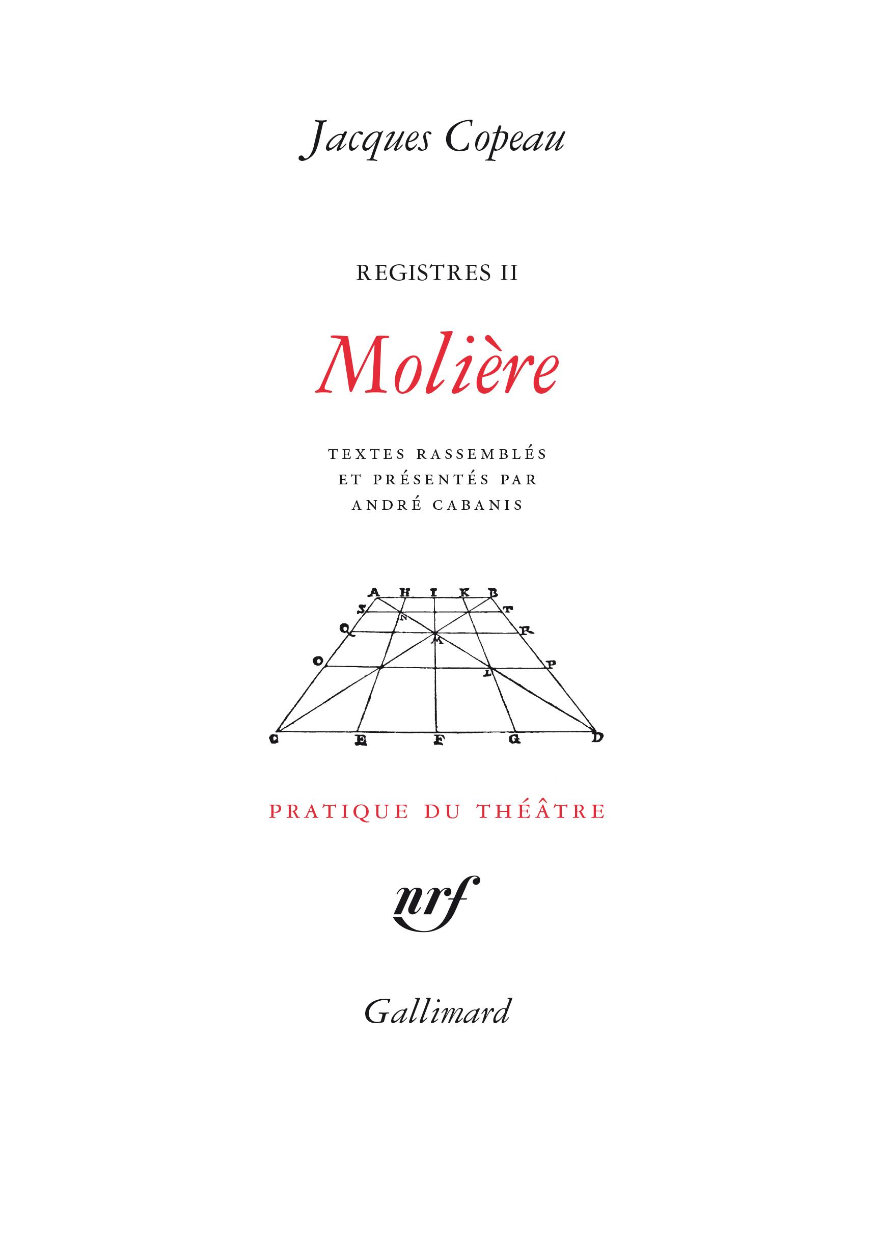 REGISTRES, II : MOLIERE