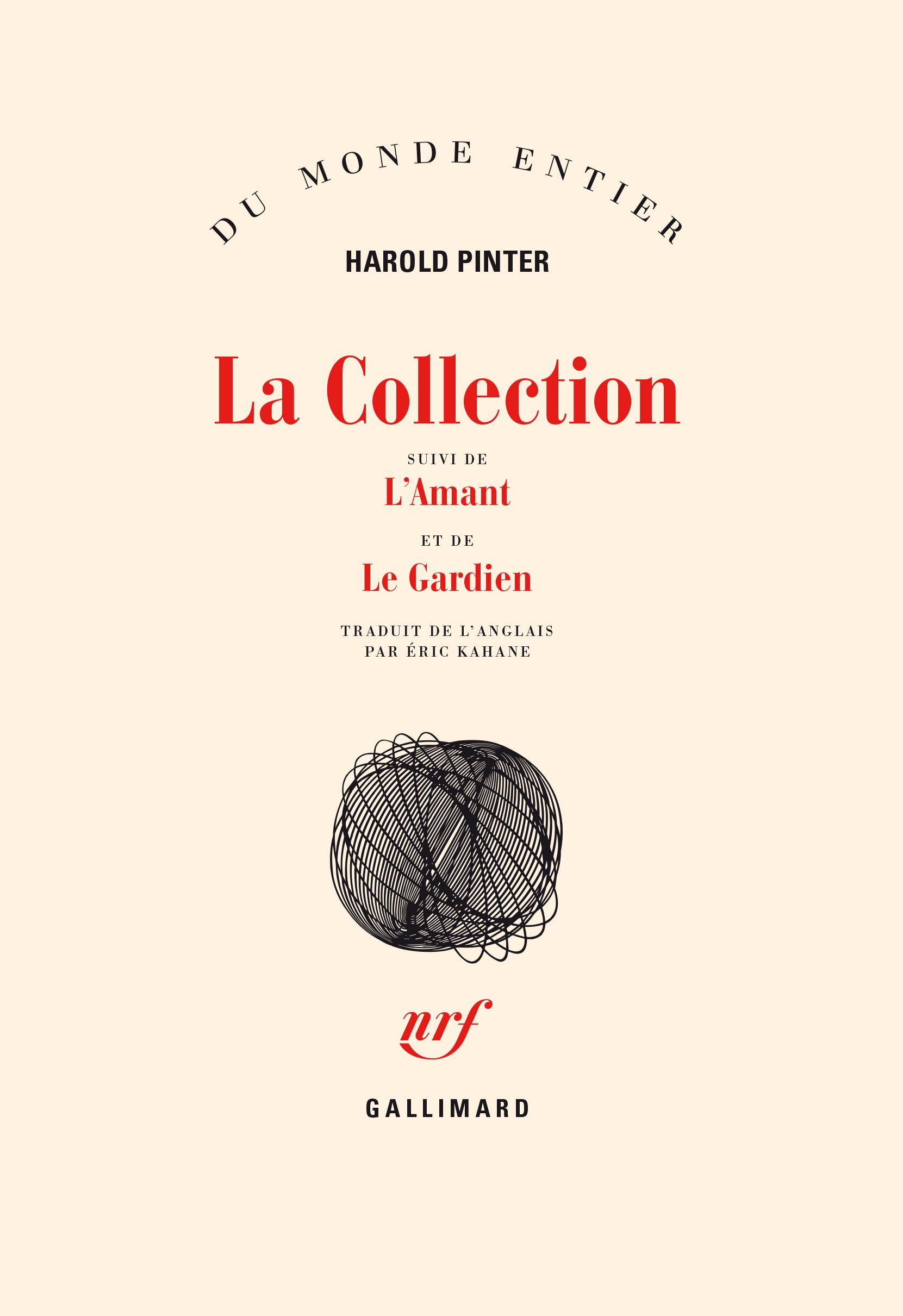 LA COLLECTION / L' AMANT /LE GARDIEN