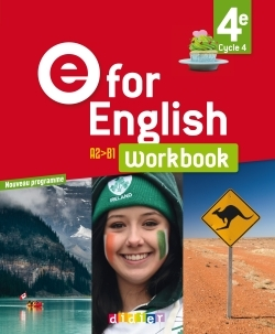 E FOR ENGLISH 4E (ED. 2017) - WORKBOOK -VERSION PAPIER