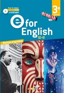 E FOR ENGLISH 3E (ED. 2017) - COFFRET CLASSE 2 CD AUDIO + 1 DVD