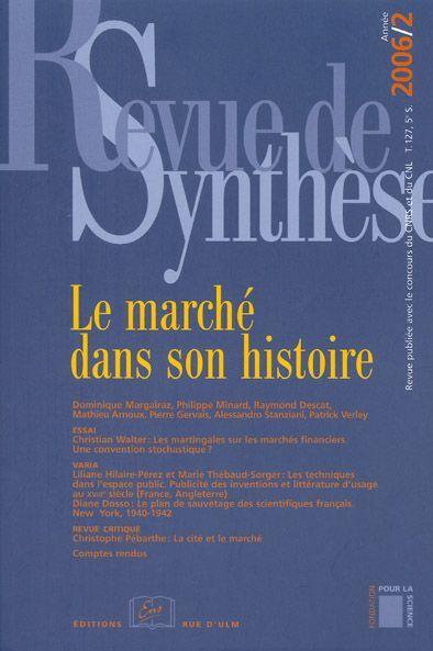 REVUE DE SYNTHESE 2006/2-N 127 5E SERIE