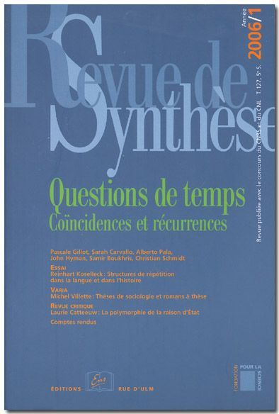 REVUE DE SYNTHESE 2006 / 1-N 127 - SCIENCES ET PHILOSOPHIE AU XX SIECLE