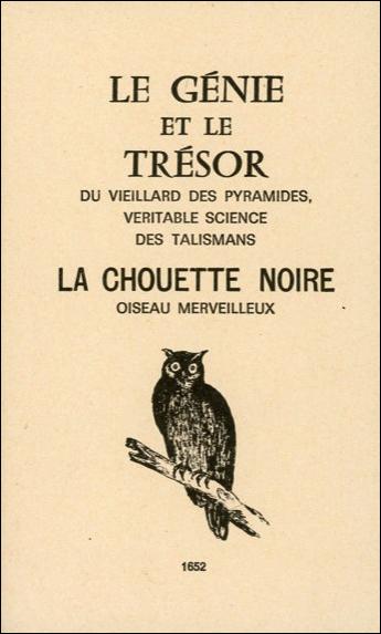 LE GENIE ET LE TRESOR - LA CHOUETTE NOIRE
