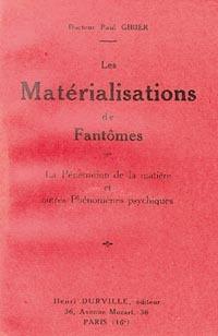 MATERIALISATION DES FANTOMES