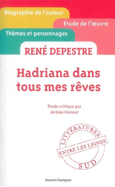 HADRIANA DANS TOUS MES REVES DE RENE DEPESTRE
