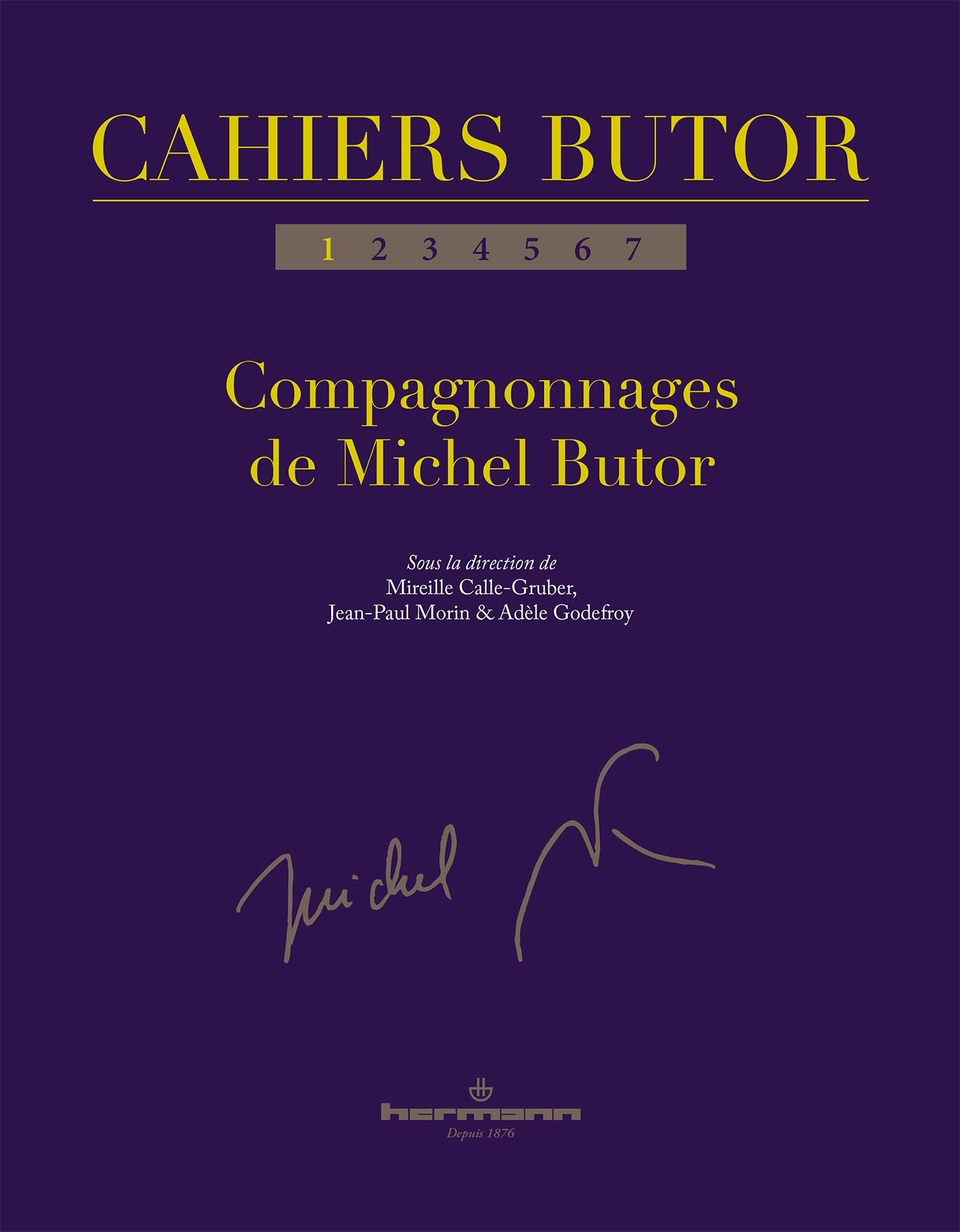CAHIERS BUTOR N  1 - COMPAGNONNAGES DE MICHEL BUTOR
