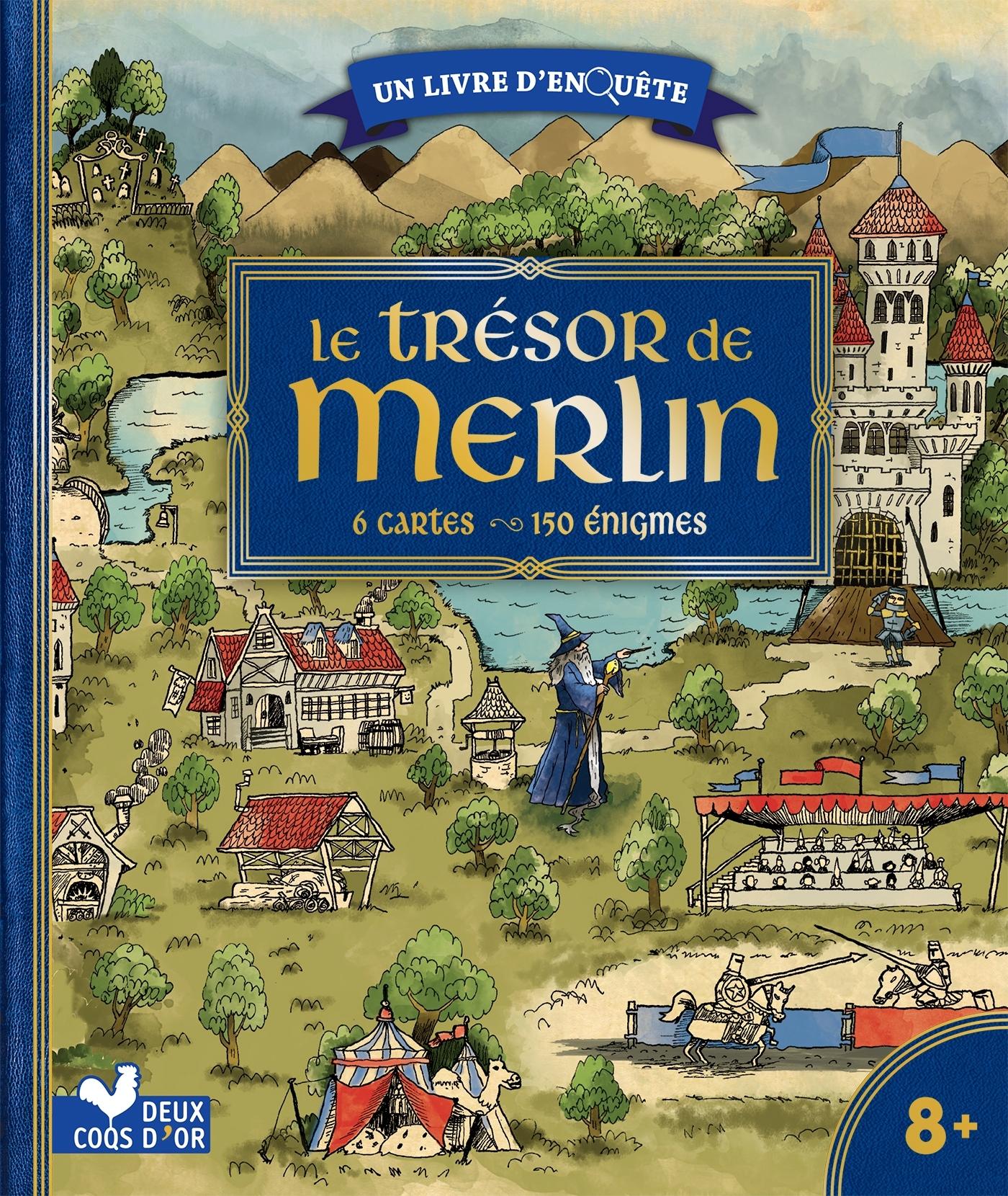 LE TRESOR DE MERLIN - LIVRE AVEC  CARTES ET LOUPE