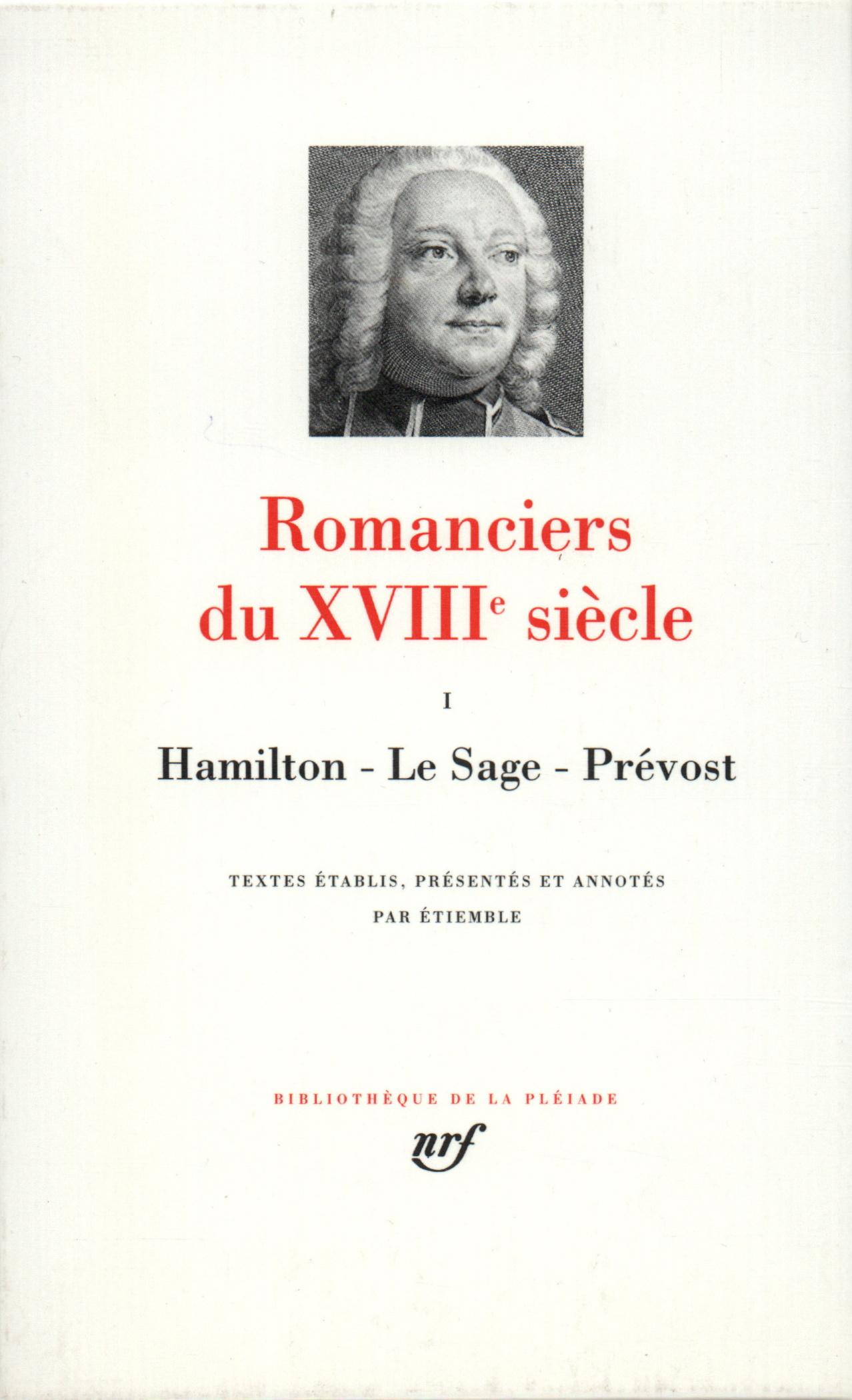 ROMANCIERS DU XVIIIE SIECLE T1