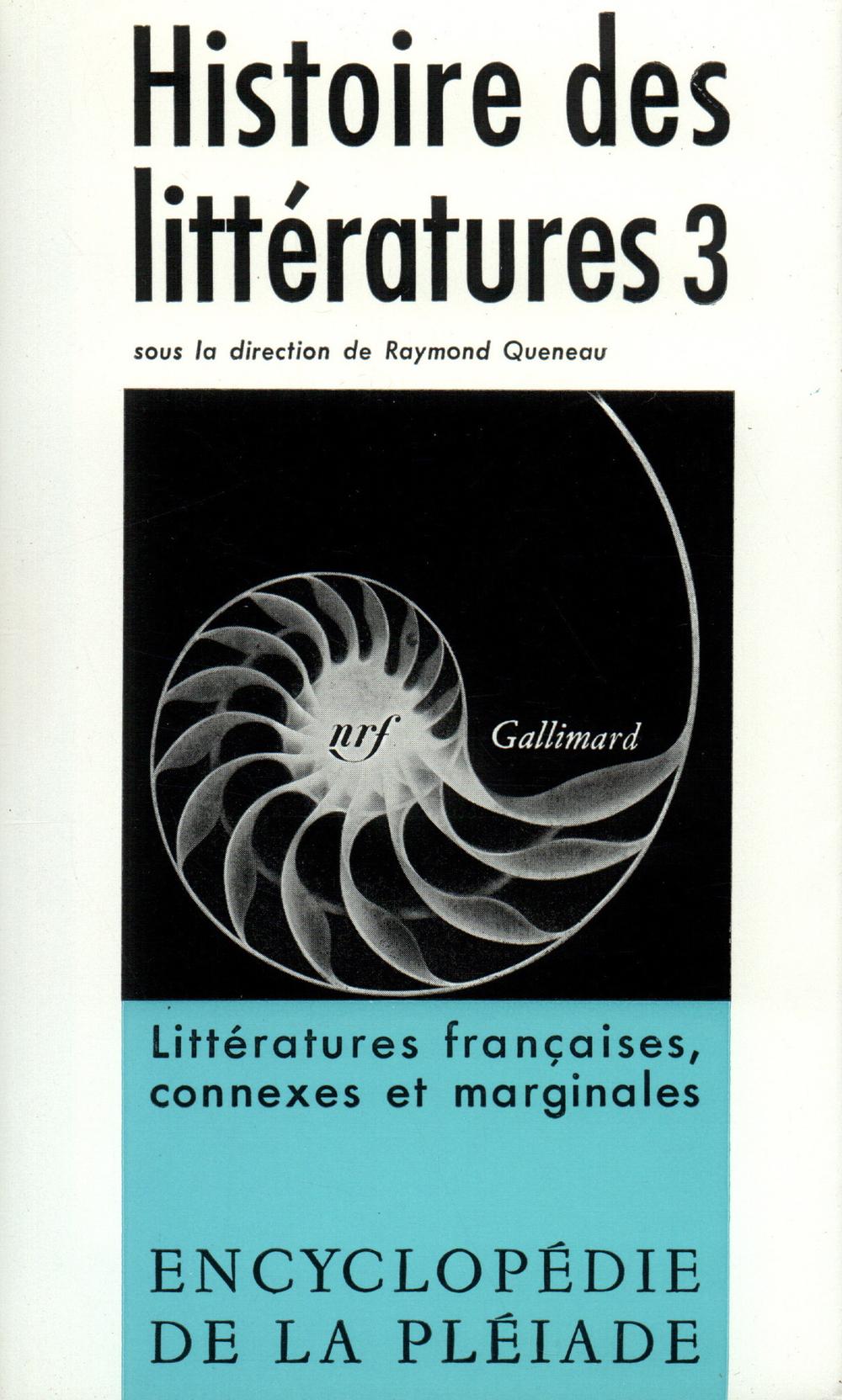 HISTOIRE DES LITTERATURES T3