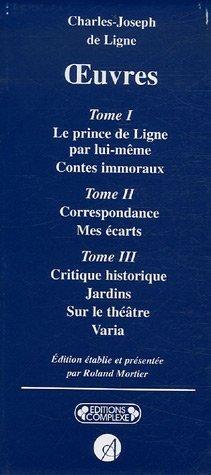 OEUVRES CHARLES-JOSEPH DE LIGNE